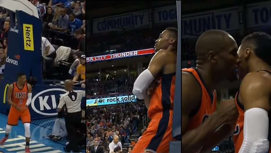Russell Westbrook Throws A Fit After A No Foul Call