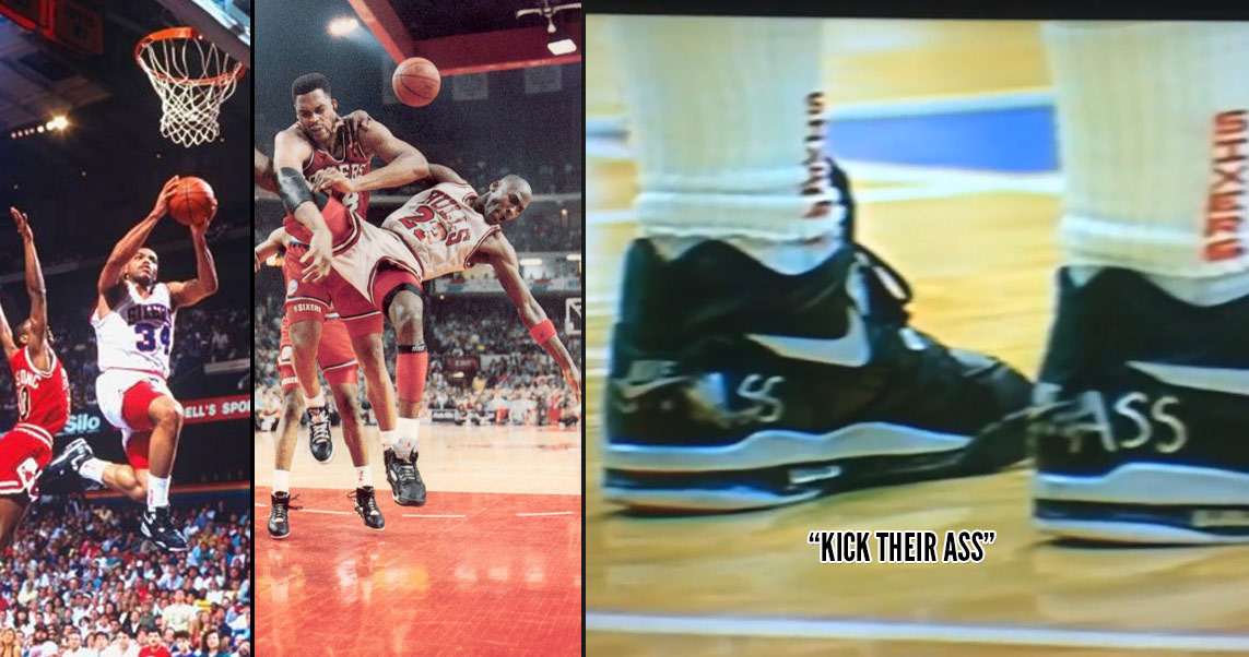 """1990: Remembering When Charles Barkley Wrote """"Kick Their Ass"""" On His Shoes Against The Bulls"""