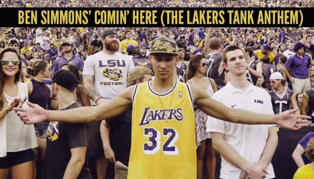 Ben Simmons + Kanye + Funny Rap Lyrics = Lakers Tank Anthem