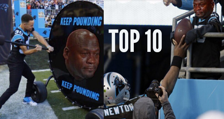 10 Best 'Crying Jordan' Cam Newton/Super Bowl 50 Memes