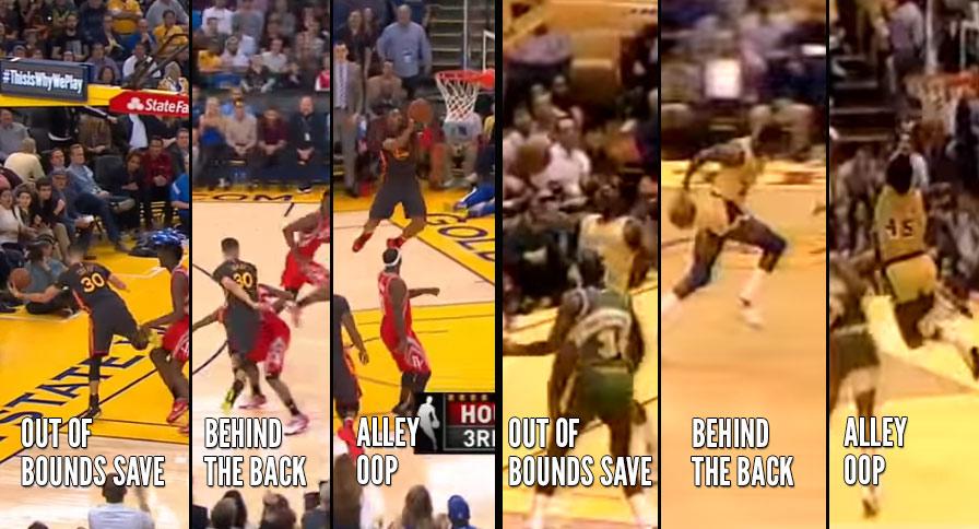 Steph Curry & Warriors Fastbreak Vs Magic Johnson & 80's Showtime Lakers Fastbreak