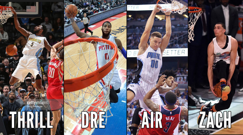 Best Dunks From The 2016 NBA Dunk Contest Contestants: Barton, Drummond, Gordon, LaVine