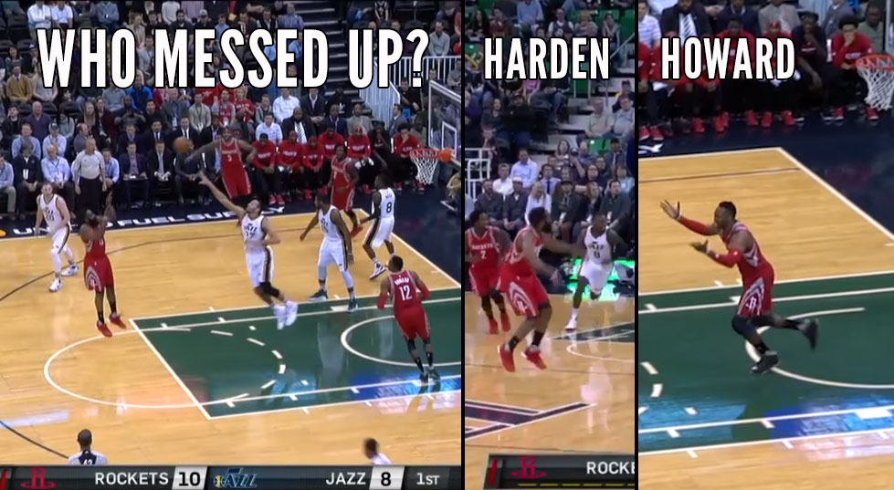 James Harden & Dwight Howard Blame Each Other For Messing Up Alley-Oop