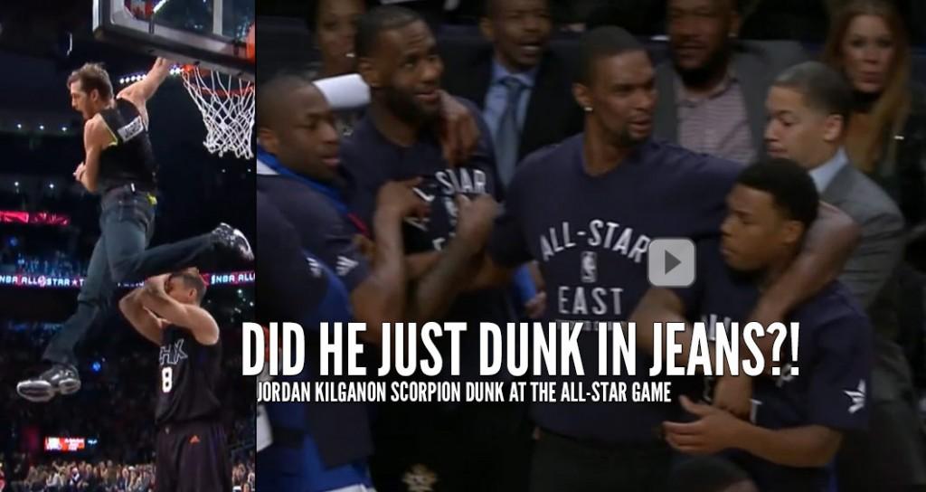 6'1 Jordan Kilganon Shocks NBA All-Stars & Drake With His Trademark Scorpion Dunk…IN JEANS!