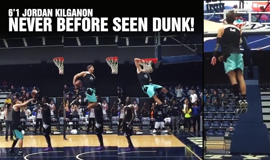6'1 Jordan Kilganon Returns With Another Never Before Seen Dunk!