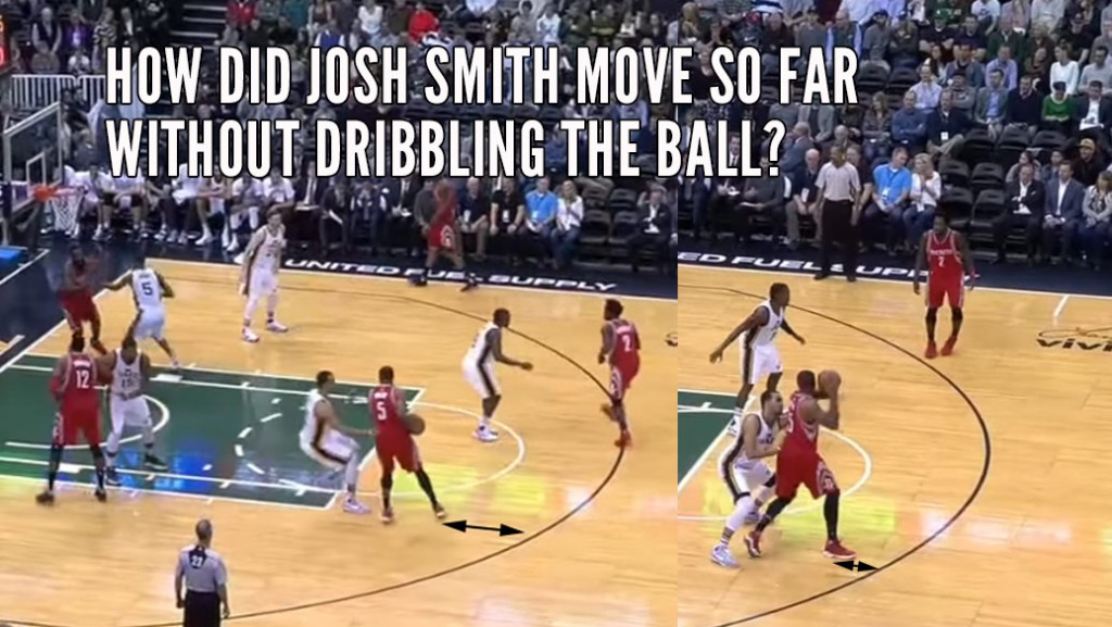 Josh Smith Gets Away With A 16 (Maybe 17) Step Travel!