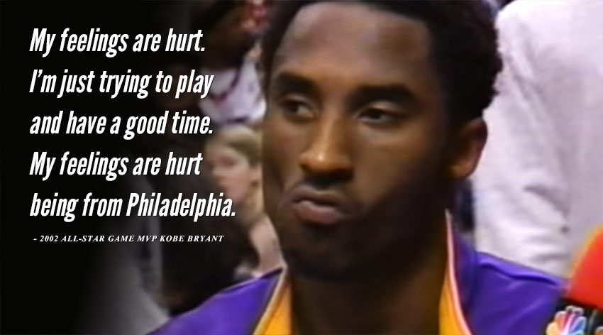 Remembering When Philly Booed Kobe Bryant Throughout His MVP Performance At the 2002 All-Star Game