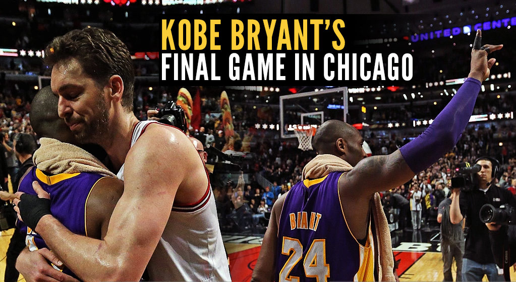Kobe Bryant Plays Final Game In Chicago, Talks About Best Memories Vs Jordan & The Bulls