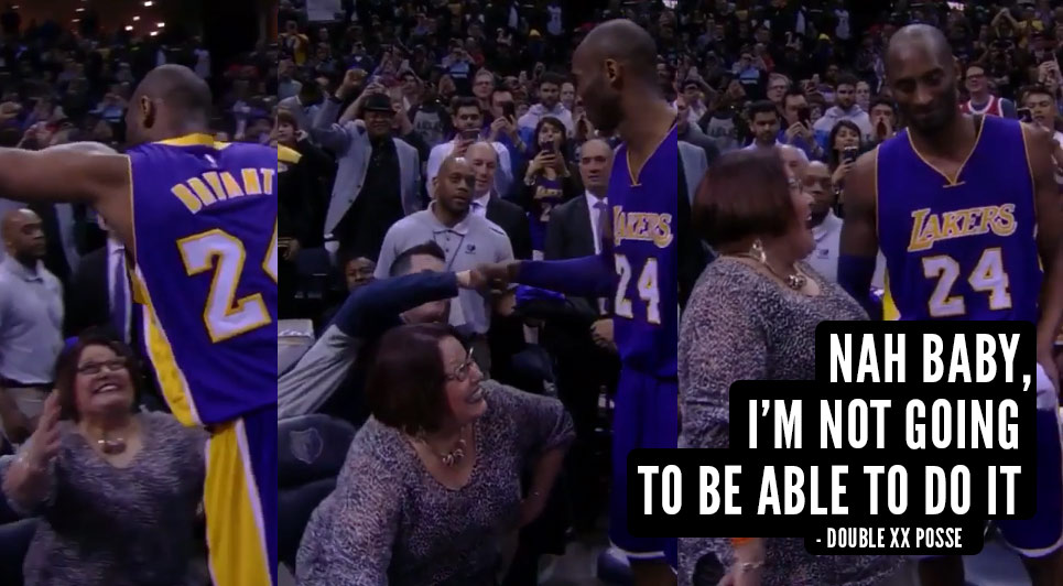 No Hug For You! Kobe Showed No Love For This Lady
