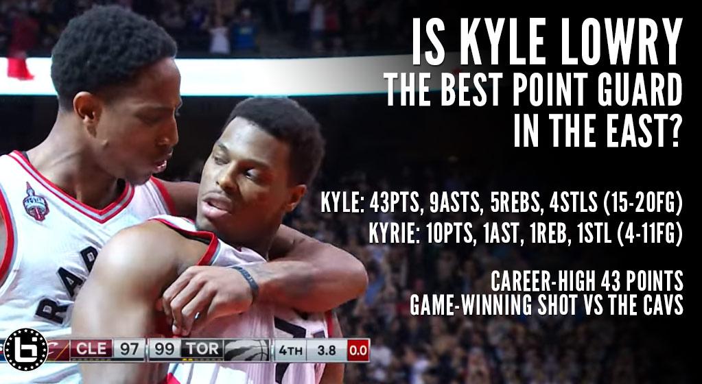 Kyle Lowry Drops Career-High 43 & 1st NBA Game Winner vs the Cavs