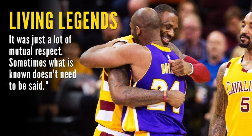 Kobe & LeBron's Final Duel & Hug in Cleveland