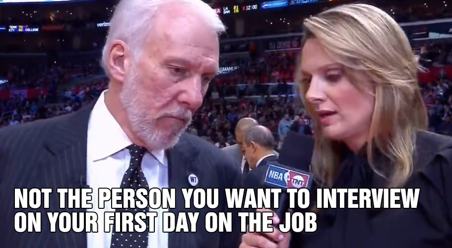Gregg Popovich Made Stacey Dales NBA on TNT Debut A Scary/Funny One