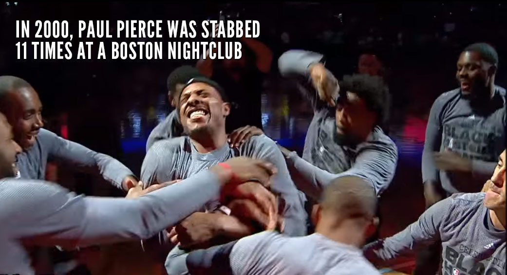 Clippers Hilariously Reenact Paul Pierce Getting Stabbed 11 Times Before Boston Homecoming Game