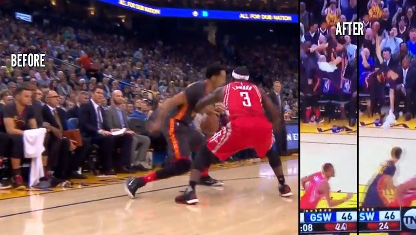 Steph Curry Goes Crazy After Shaun Livngston Crosses Ty Lawson & Scores