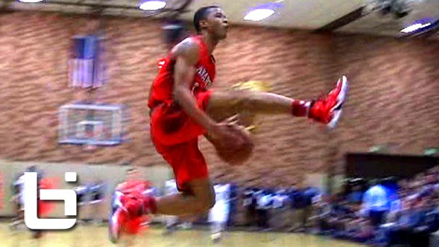 9th Grader Cassius Stanley Reverse EASTBAY Dunk IN GAME Zach LaVine Style! CRAZY!