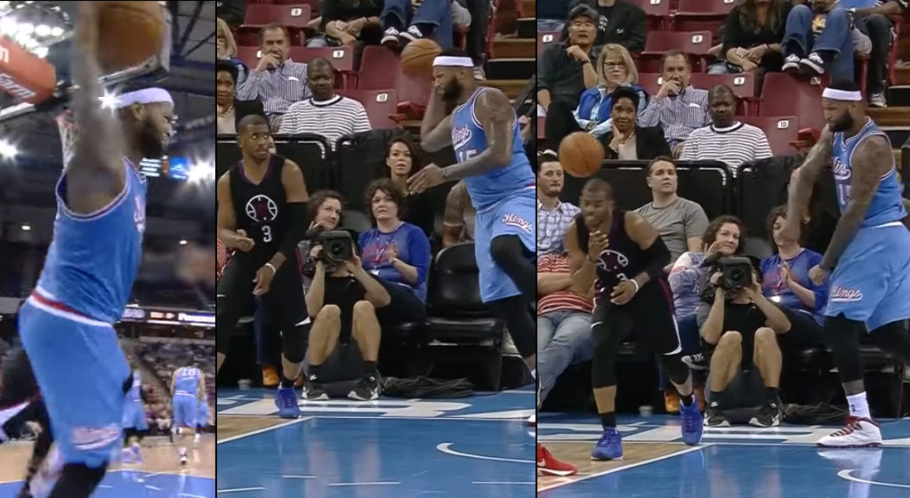 Chris Paul Drops 40 in Win vs the Kings, Loses Game of Dodegeball With DeMarcus Cousins