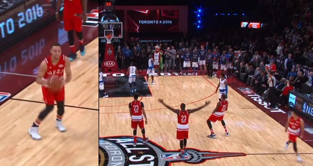 Steph Curry Ended The All-Star Game With A Half Court Jumper & TNT Missed It!