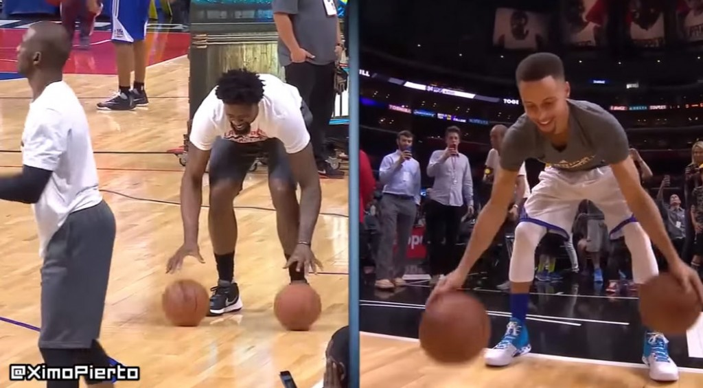 DeAndre Jordan Does His Best Steph Curry Impersonation…Before Bending A Rim With A Dunk