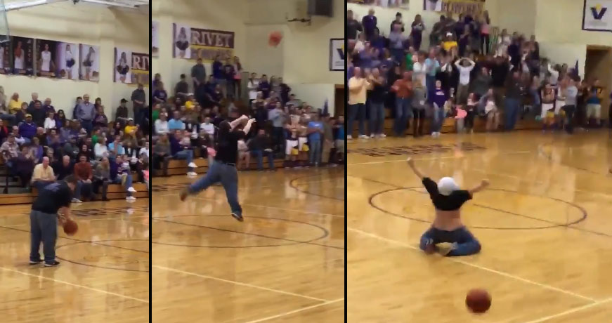 Must See Celebration From Team Manager With Down Syndrome After Making A Half-Court Shot