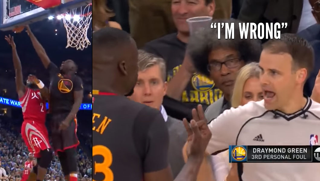 "Ref Tells Draymond Green ""I'm Wrong"" After Blown Call"