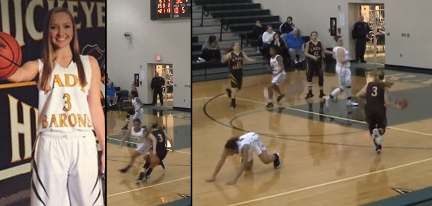 Ankle Breaker of the Day: Class of 2017 Megan V Drops Her Defender With A Behind The Back Dribble