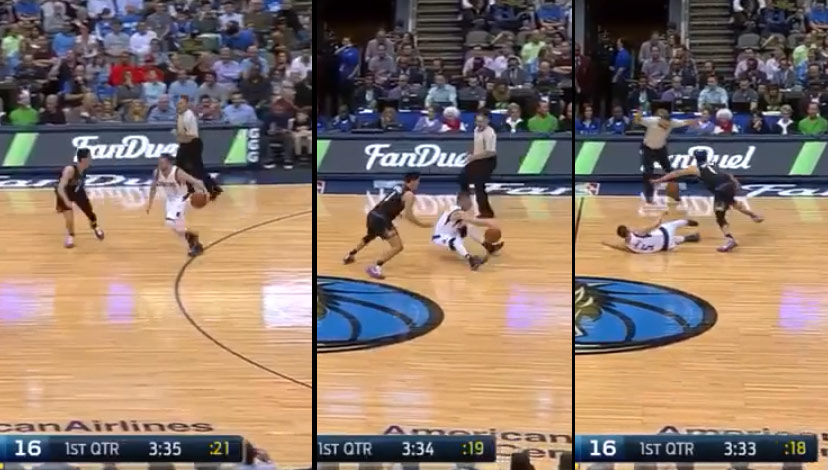 J.J. Barea Drops Himself With A Crossover