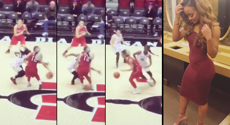 UNLV's Dakota Gonzalez With The Behind The Back Move & Bucket