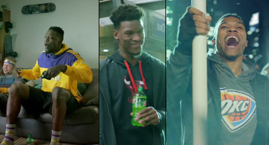 Russell Westbrook, Jimmy Butler & Julius Randle Star In New Mountain Dew Commercial