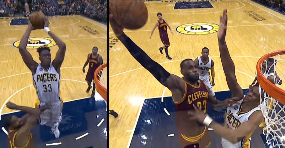 Myles Turner Takes Flight, Then Prevents LeBron From Doing So With A Nasty Rejection!