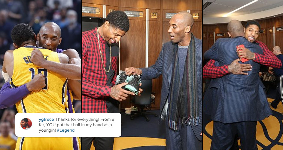 Paul George Receives Shoes From His Childhood Idol, Kobe Bryant, After A 4th Quarter Duel