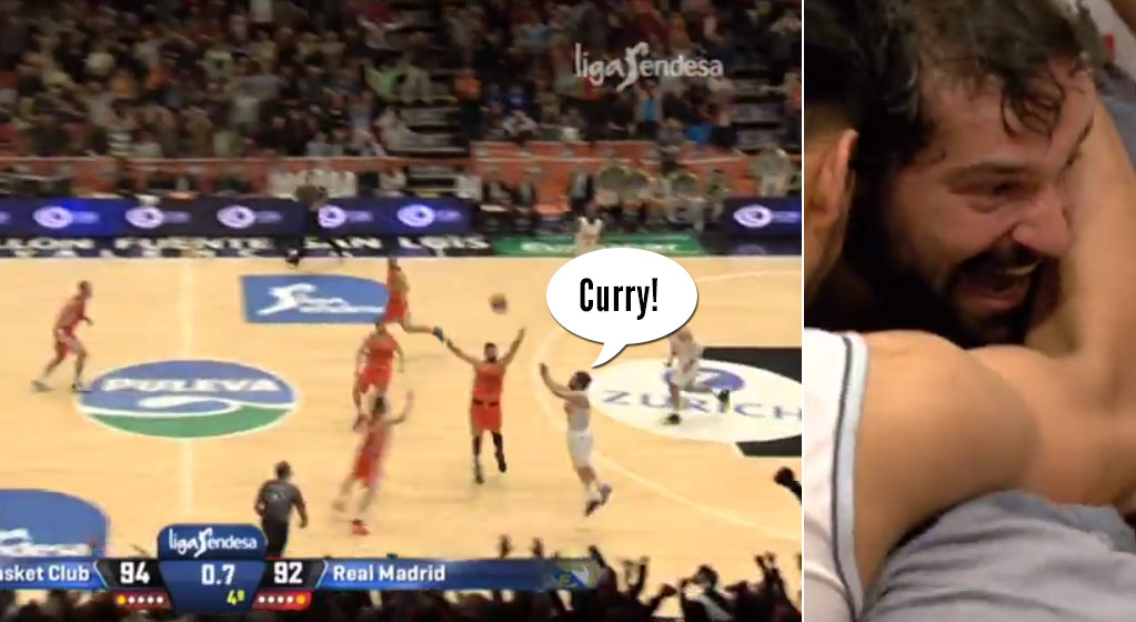 Sergio Llull of Real Madrid Hits A Game-Winner From the Opposite 3-Point Line