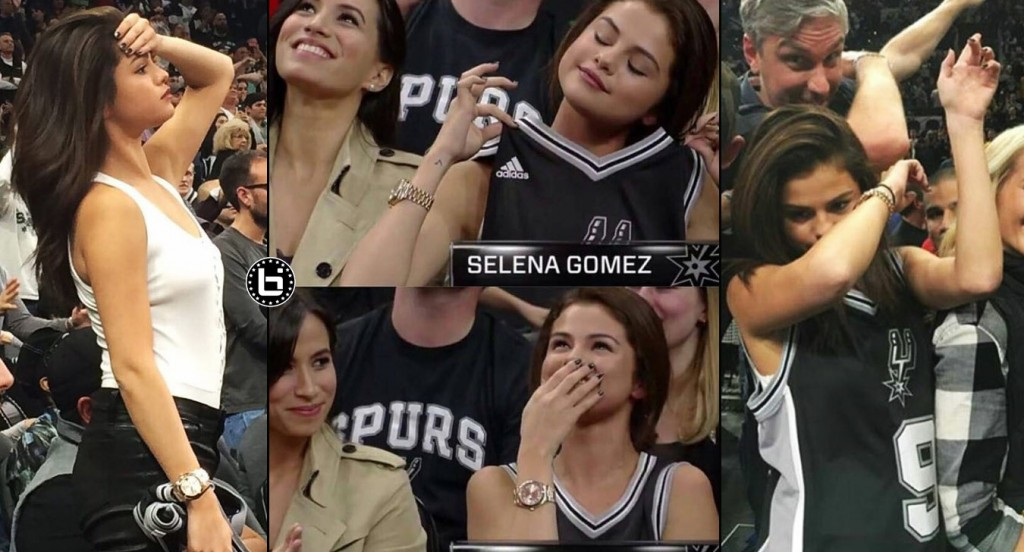 Selena Gomez Looking Hot & Dabbing At The Spurs/Lakers Game