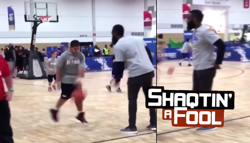 Shaqtin' A Fool 2016 All-Star Edition: James Harden Teaches Kids How To Play D