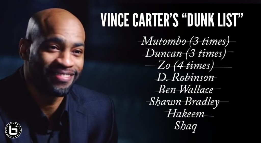 Vince Carter Had A Dunk List With Guys He Wanted To Dunk On, Says He Marked Off Everybody