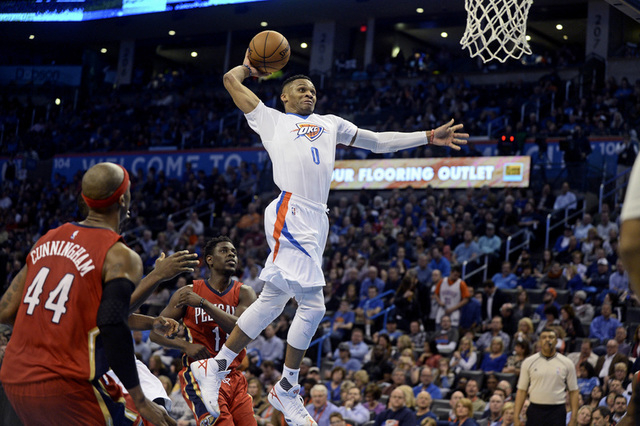 Russell Westbrook 23/10/9 in 28mins vs the Pelicans