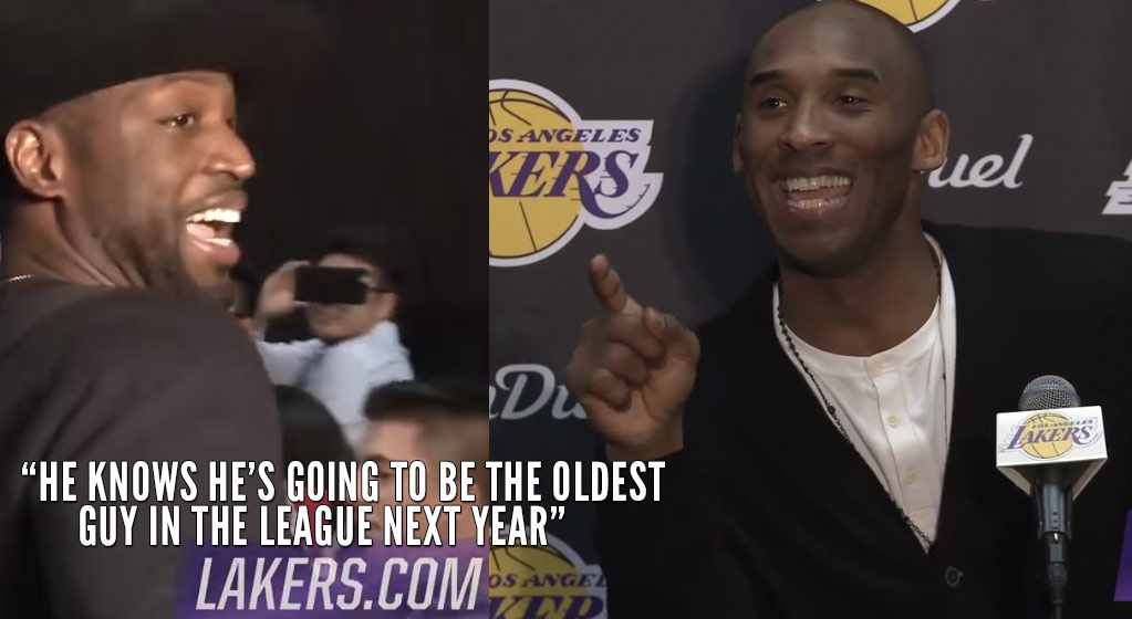 """Dwyane Wade Crashes Kobe's Postgame Conference, Kobe calls Wade a """"Vicious Competitor. He's Mean"""""""