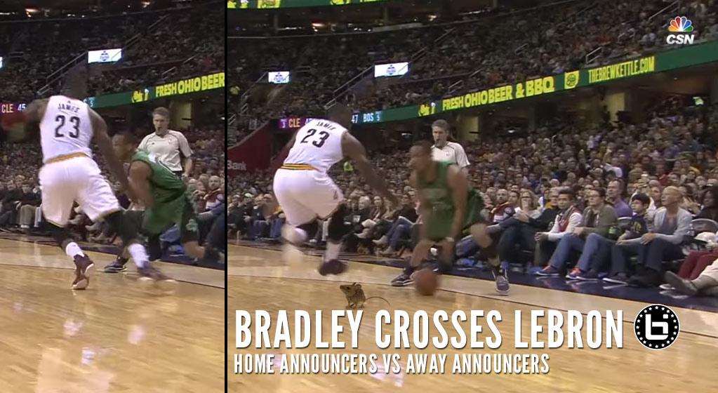 Cavs Announcers vs Celtics Announcers: Calling Avery Bradley's Crossover On LeBron