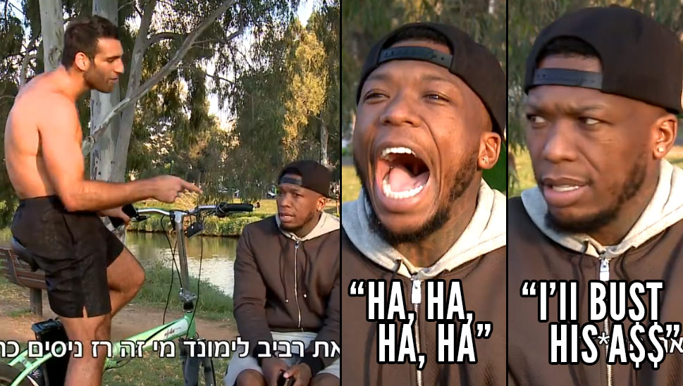 A Nate Robinson Interview Gets Hilariously Interrupted By A Cocky Shirtless Challenger In Israel