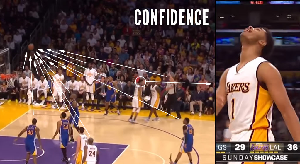 D'Angelo Russell Does His Best Steph Curry Impersonation In Front Of Steph Curry