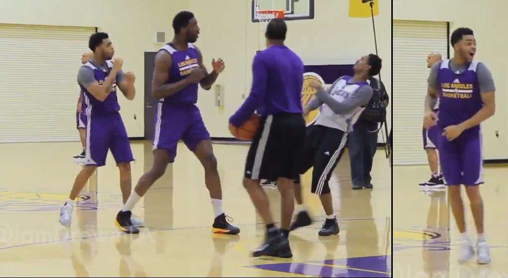 Roy Hibbert Accidentally Hits Lou Williams In The Face While Play Fighting