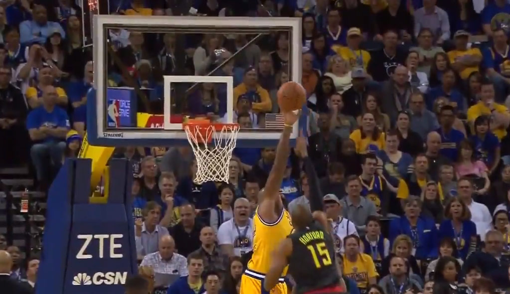 Block of the Night: Marreese Speights Destroys Al Horford's Layup Attempt