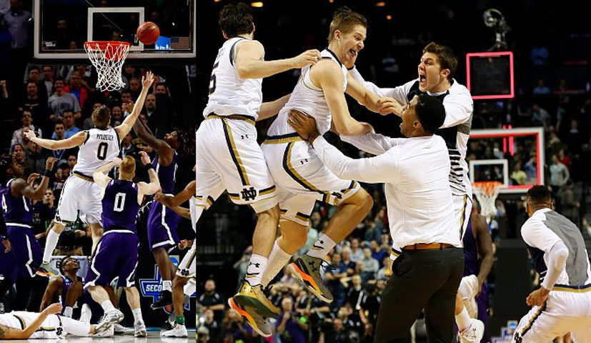 Notre Dame Freshman Rex Pflueger's First Field Goal Since March 5th Is A Game-Winning Shot In The NCAA Tournament