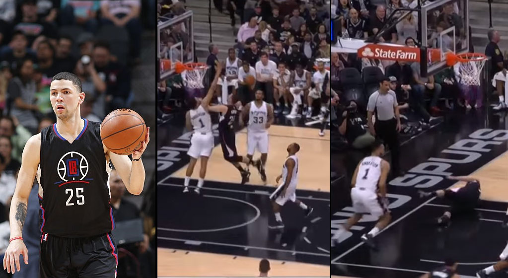 Austin Rivers Attempts To Dunk on Kyle Anderson, Gets Rejected By THE RIM!