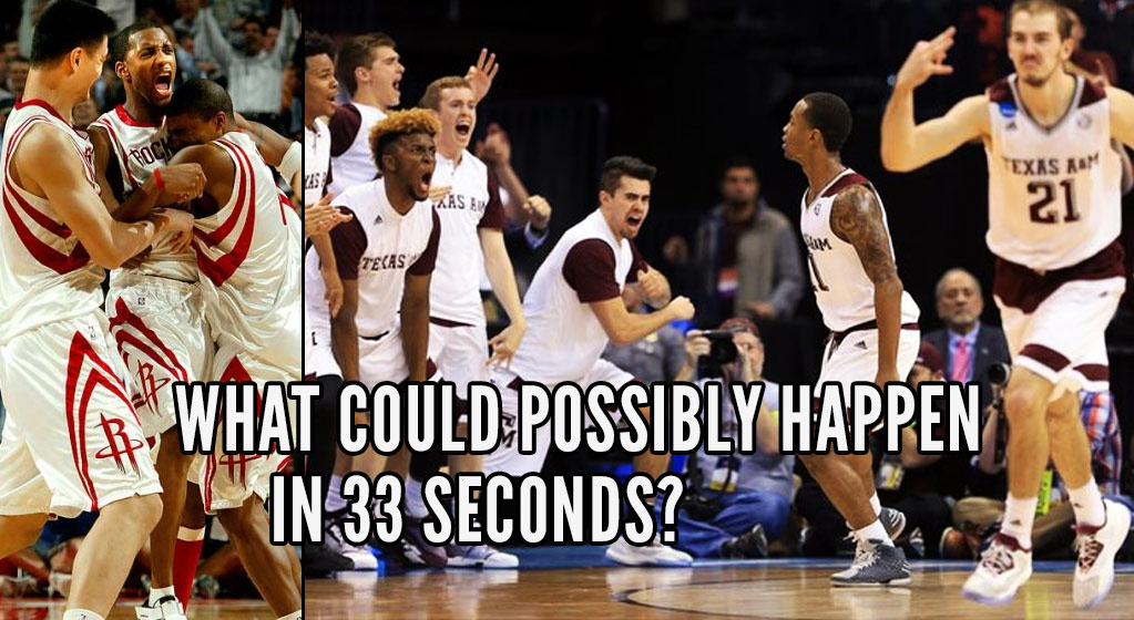 Texas A&M Pulled A T-Mac & Came Back From a 12 Point Deficit In 33 Seconds