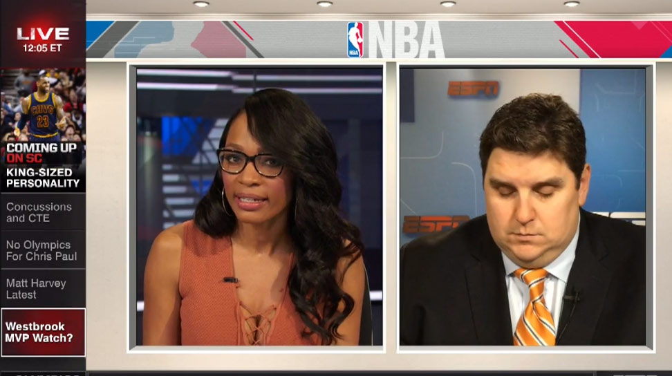 ESPN's Brian Windhorst Falls Asleep (?!) On Live TV During Russell Westbrook Conversation