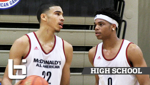 Jayson Tatum, Miles Bridges Impress NBA Scouts at McDonald's All American Practice