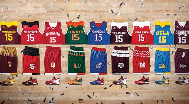 adidas Unveils  Uniforms for 2016 MARCH MADNESS