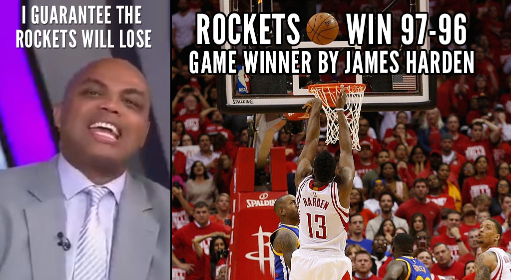 James Harden Hits Game-Winner After Charles Barkley Guarantees Rockets Will Lose GM3 During Halftime
