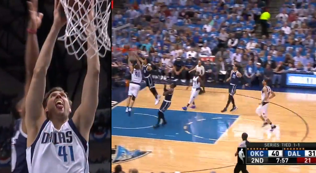 Russell Westbrook Rejects Dirk's Dunk Attempt During 29 Point Beatdown