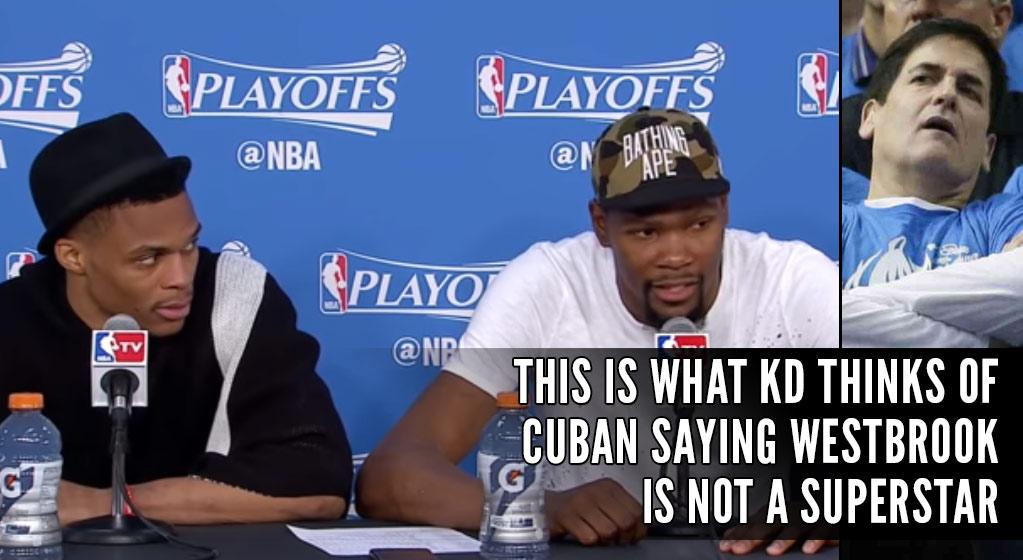 """Durant Calls Mark Cuban """"An Idiot,"""" Westbrook Roasts Villanueva After Eliminating Mavs"""